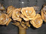 Декоративные розы из бересты