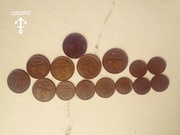 Продам советские монеты,  20 Динара,  1Тиын 1993г.