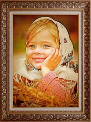 Детские  портреты по фотографии маслом