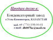 Усть-Каменогорский конденсаторный завод. Продам долю в ТОО.